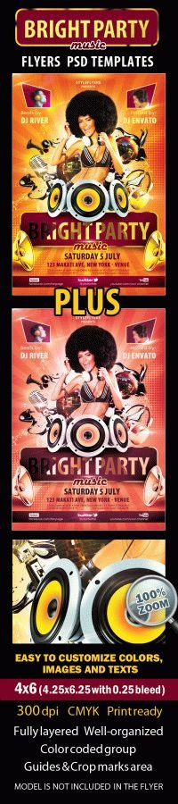 Bright Party Music Flyer
