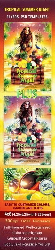 Tropical Summer Night Flyer