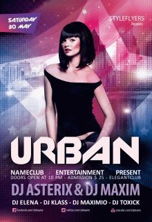 Urban-party-Flyer