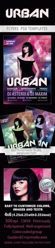 Urban party Free Flyer PSD Template