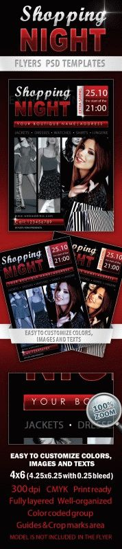 Shopping night Flyer