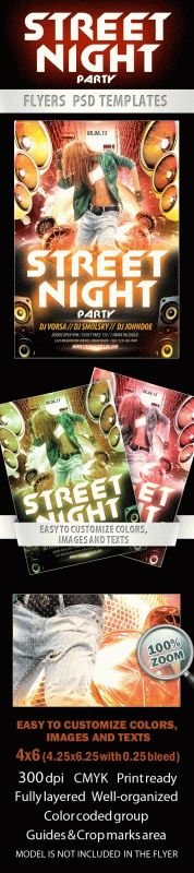 Street night party Flyer