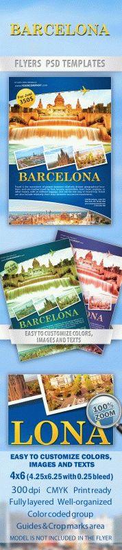 Barcelona travel Flyer