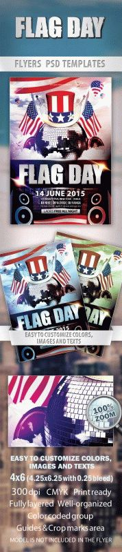 Flag day Party Flyer