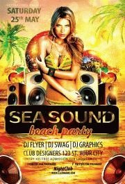 Sea-sound-–-beach-party-flyer