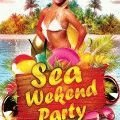 Sea-weekend-party-flyer