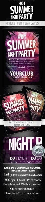 Hot Summer Night Party Flyer
