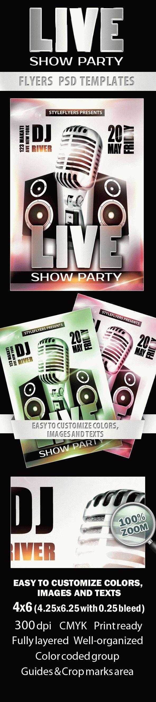 Live Show Party Flyer