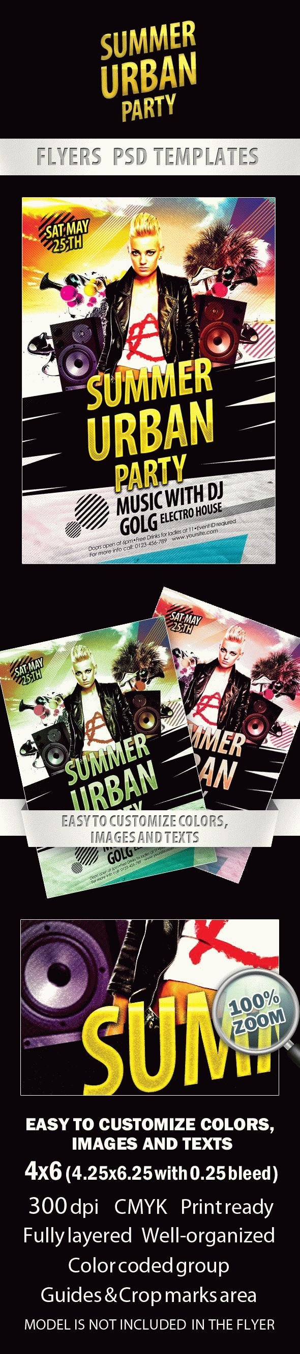 Urban Summer Party Flyer