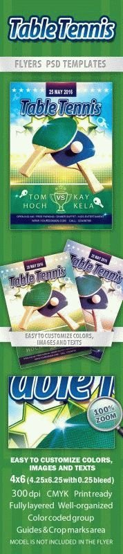 Table Tennis Flyer