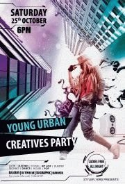 youngurbancreatives-party-flyer