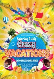 Crazy-Vacations-party-flyer