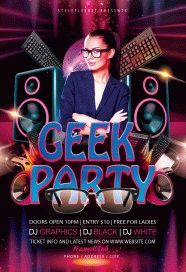 Geek-party-flyer
