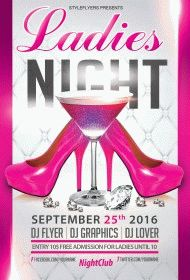 Ledies-Night-Party-flyer