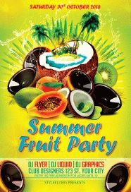 Summer-fruit-party-flyer