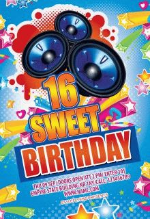 Sweet-16-birthday-party-flyer-