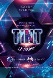 Tint-of-night-party-flyer
