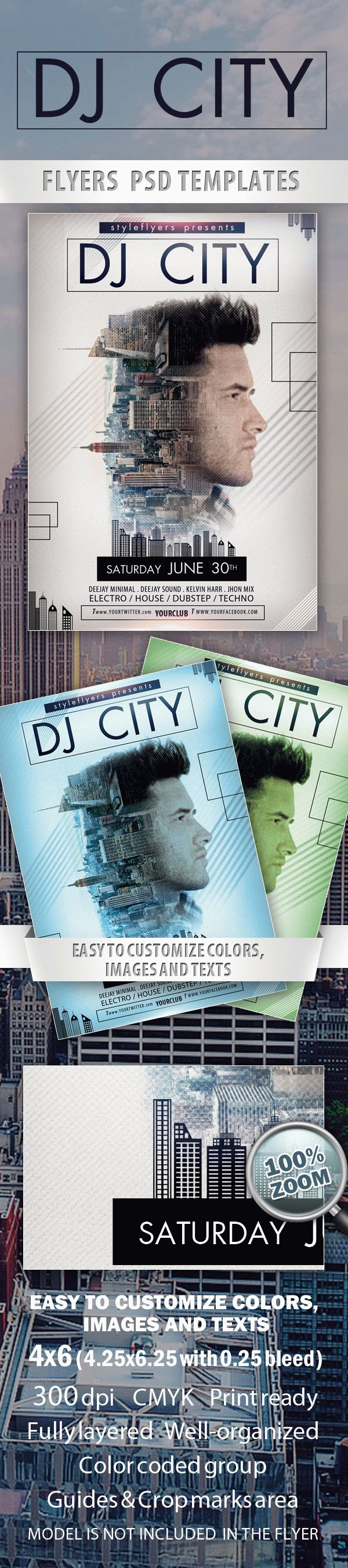 DJ City  Free Flyer PSD Template
