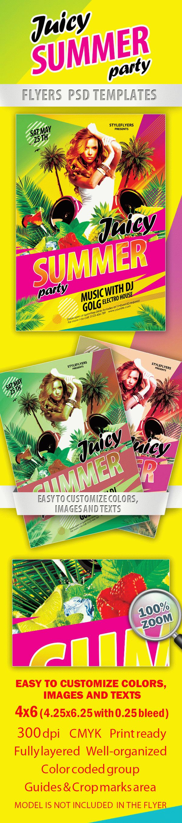 Juicy Summer Paty Flyer