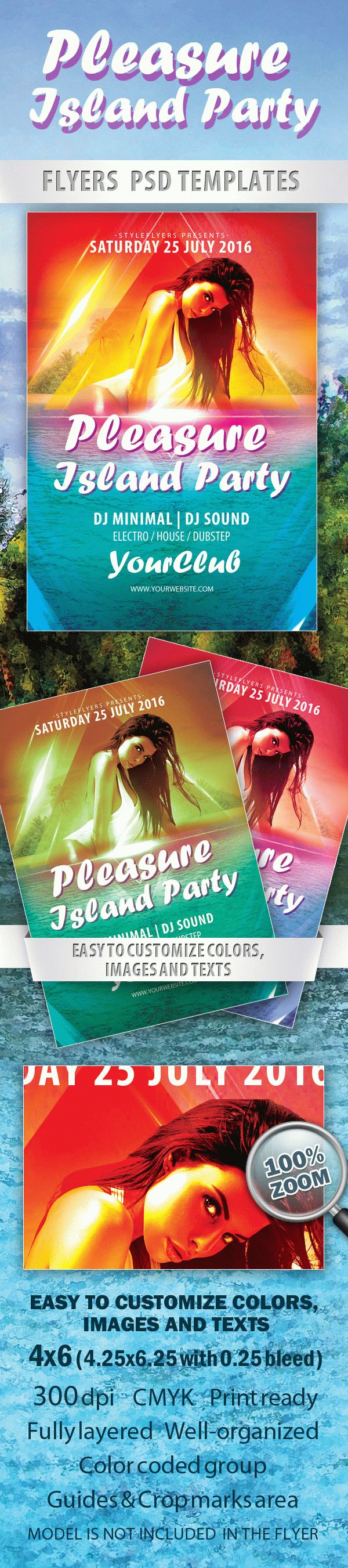 Pleasure Island Party Flyer