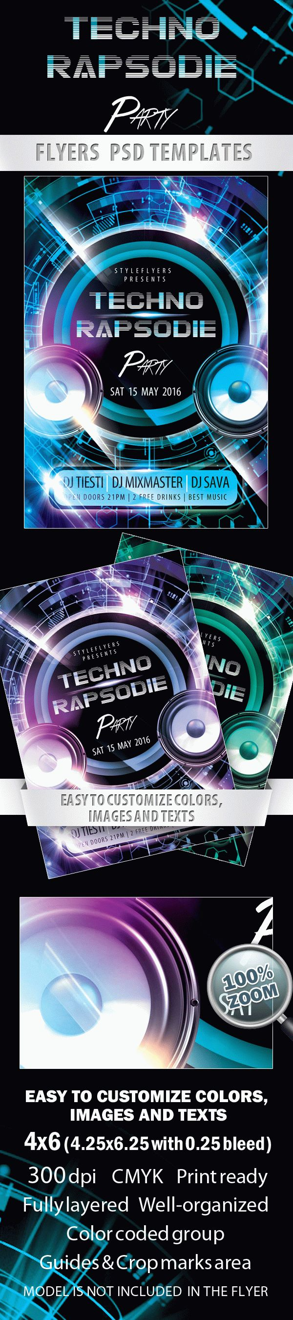 Techno Rapsodie Party Flyer