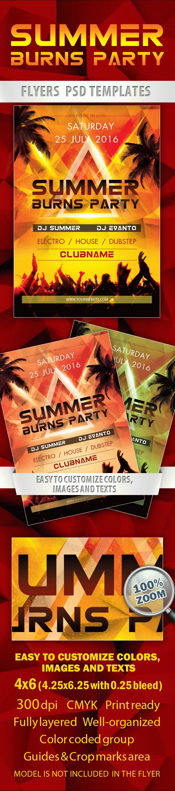 Summer Burns Party Flyer