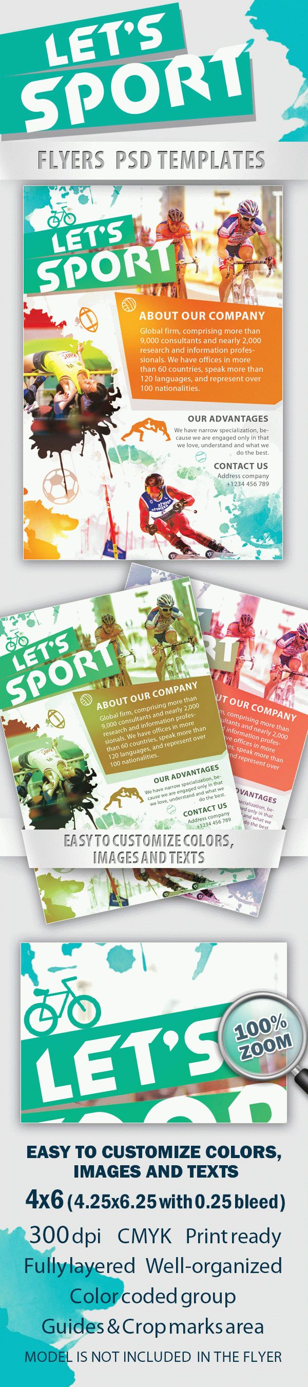 Let's Sport PSD Flyer Template