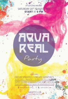 AquaReal-Party-flyer-