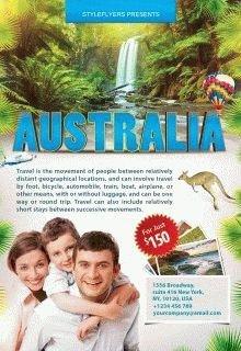 Australia-–-travel-flyer