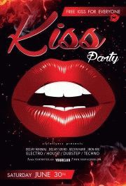 kiss-party-flyer