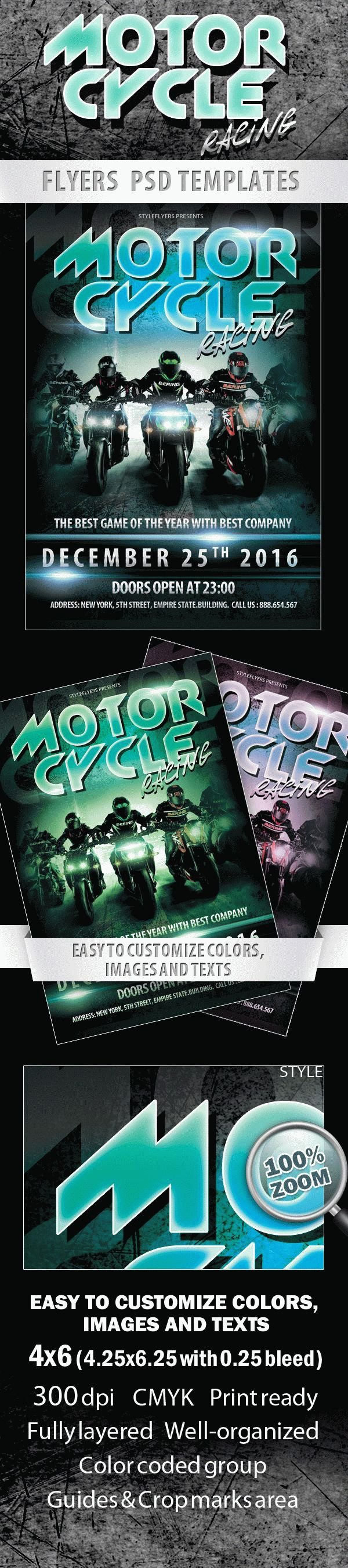 Motorcycle Racing Sport Flyer
