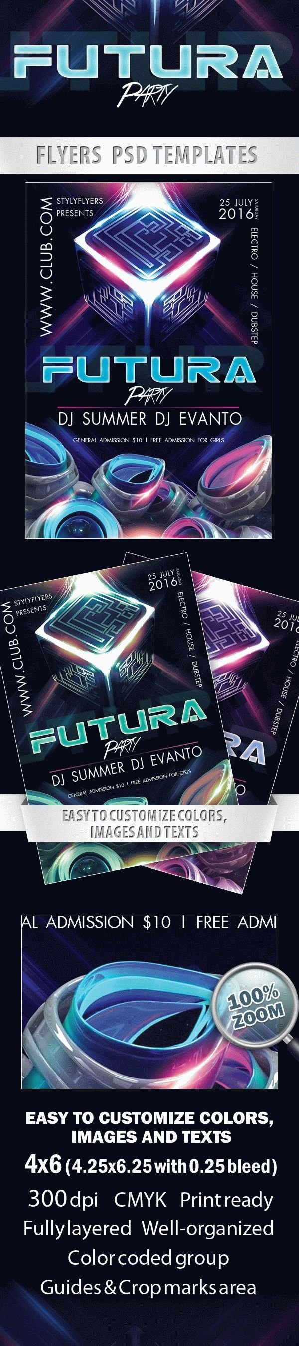 Futura Party  Free Flyer PSD Template