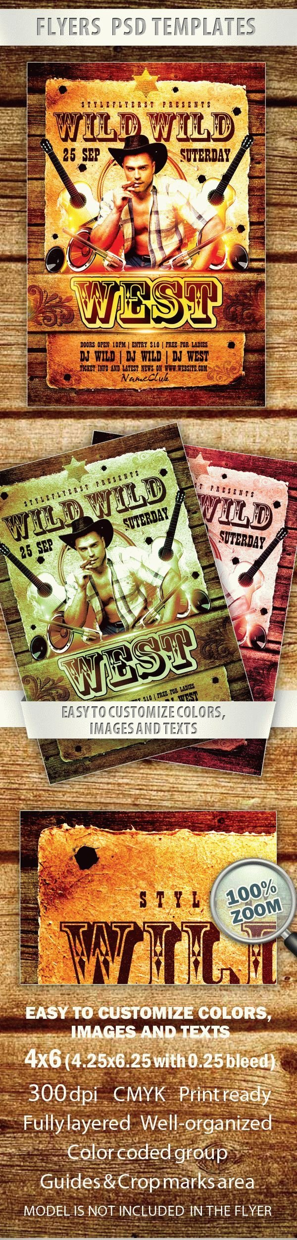 Wild Wild West Party Flyer