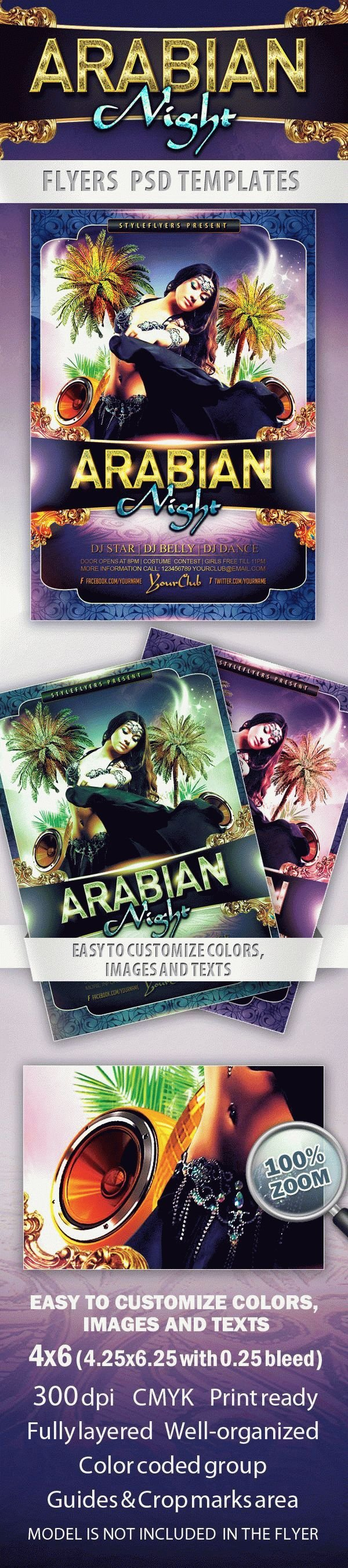 Arabian Night Party Flyer