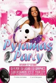 pyjamas-party-flyer