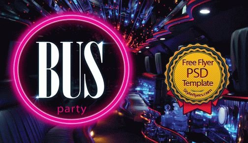 Bus Party Flyer