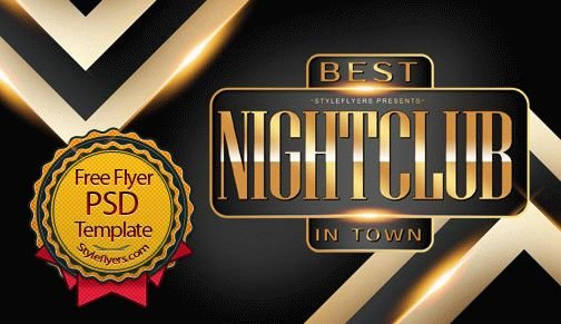 Best Nightclub in Town Flyer