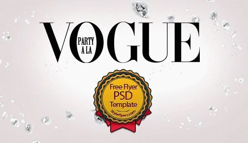 Party a la Vogue Flyer