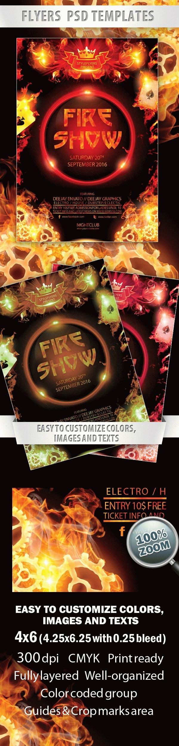 Fire Show Flyer