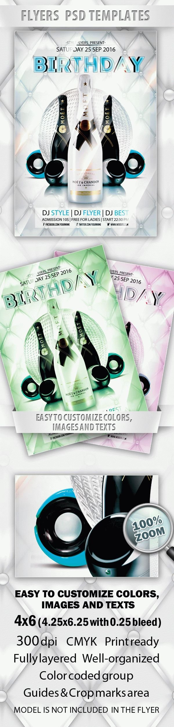 Birthday Free PSD Flyer