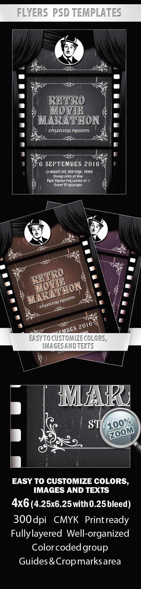Retro Movie Marathon Flyer