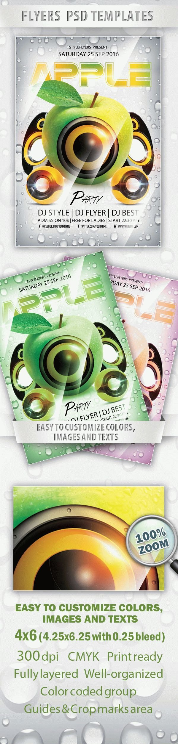 Apple Party Flyer