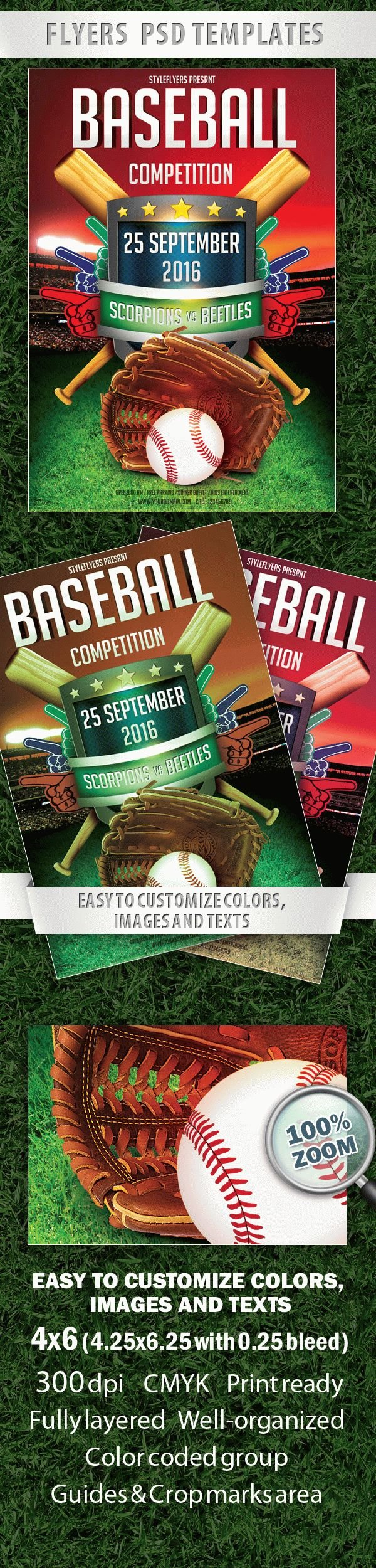 Baseball Competition Flyer