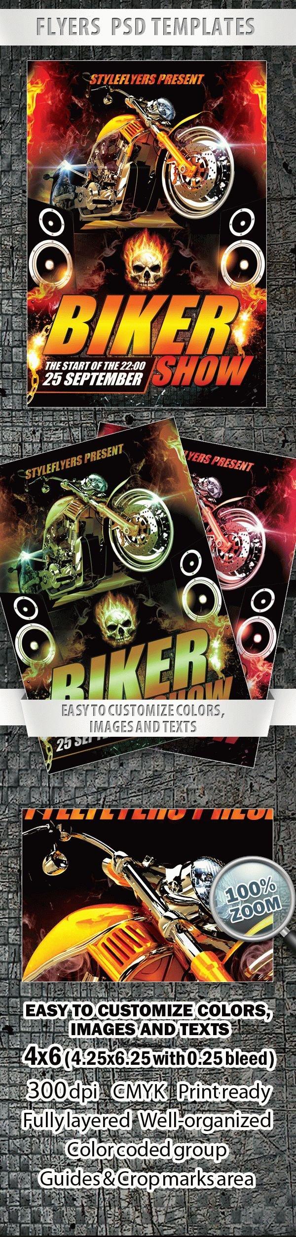 Biker Show FREE PSD Flyer