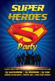 superheroes-party-flyer