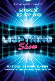Lightning-Show---party-flyer-