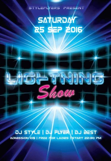 Lightning-Show—party-flyer-