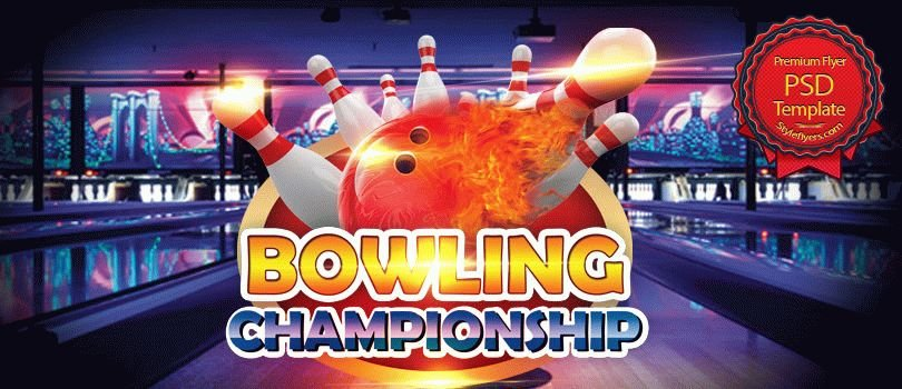 Bowling championship PSD Flyer Template