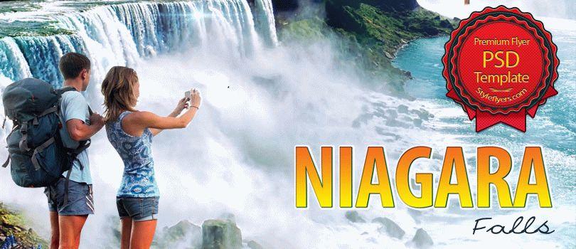 Niagara Falls Travel PSD Flyer Template