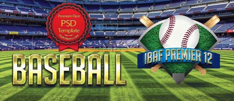 Baseball IBAF Premier 12 PSD Flyer